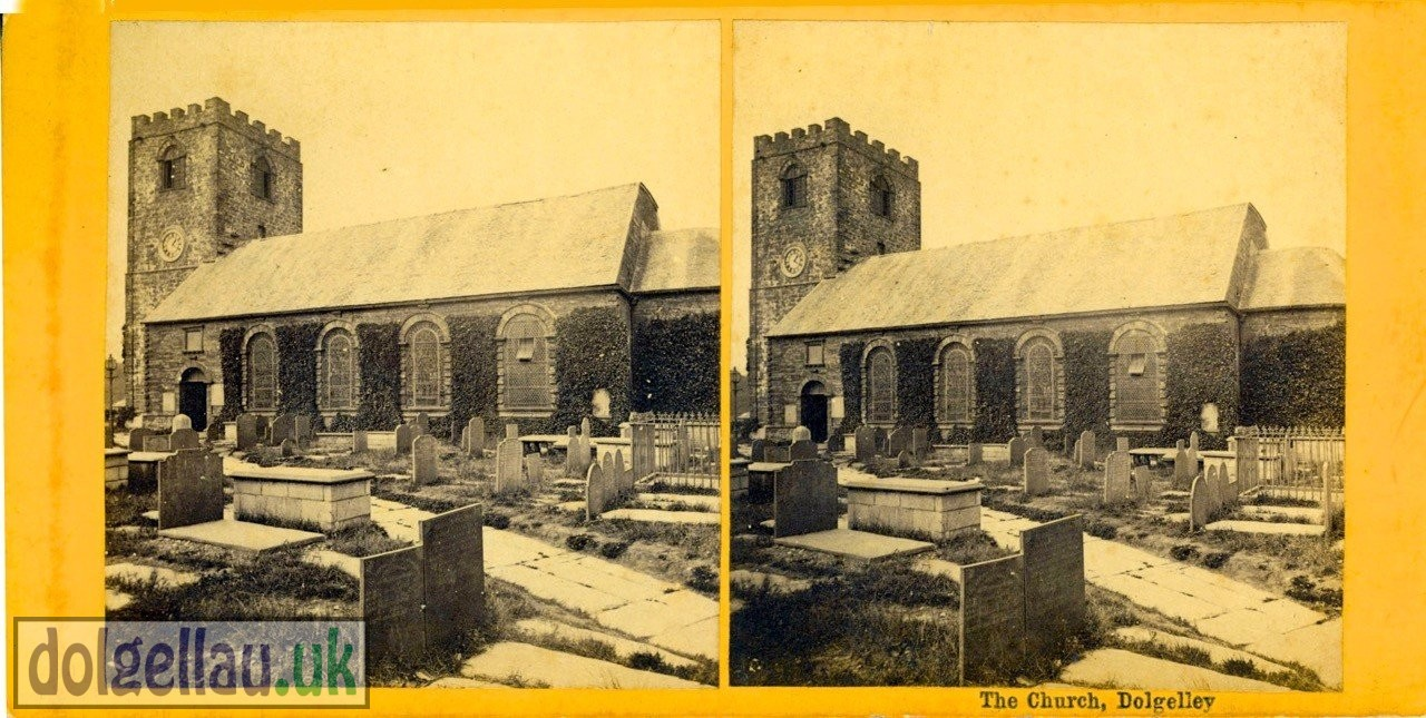 St. Marys Church, Dolgelley (Stereoscope)
