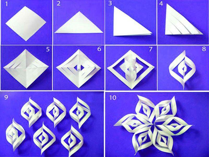 เกล็ดหิมะกระดาษจำนวนมาก