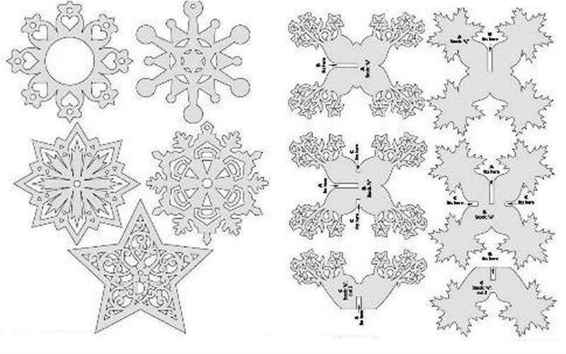Snowflakes sawing patterns