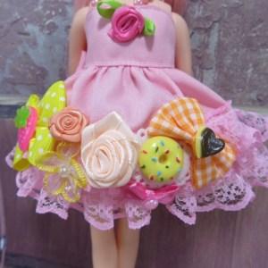 手作りリカちゃんドレス