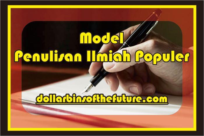 Contoh Artikel Ilmiah Model Penulisan Ilmiah Populer