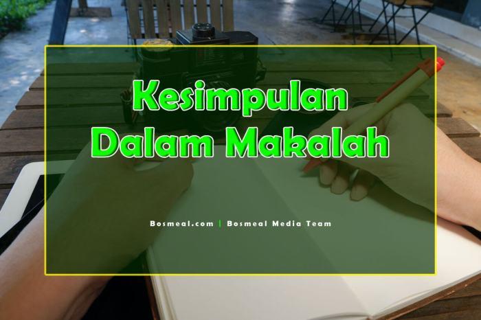 Contoh Penutup Makalah Kesimpulan dalam Makalah - Bosmeal.com