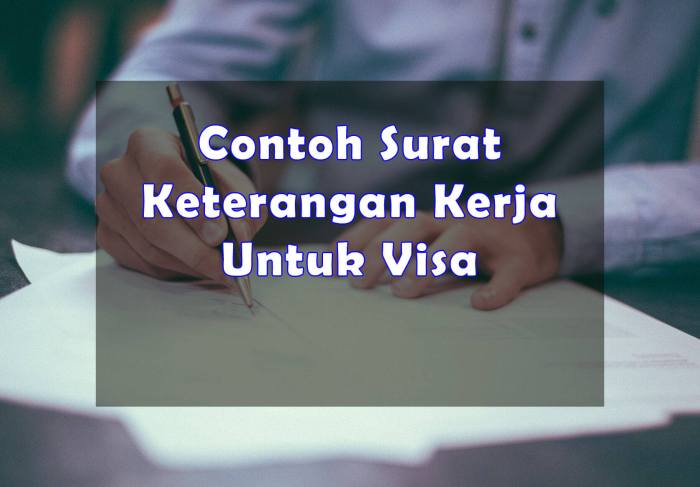 Contoh Surat Keterangan Kerja Untuk Visa - Bosmeal.com