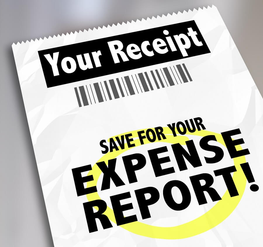 Filling a report for reimbursable expenses