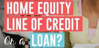 the question home equity line of credit or a loan