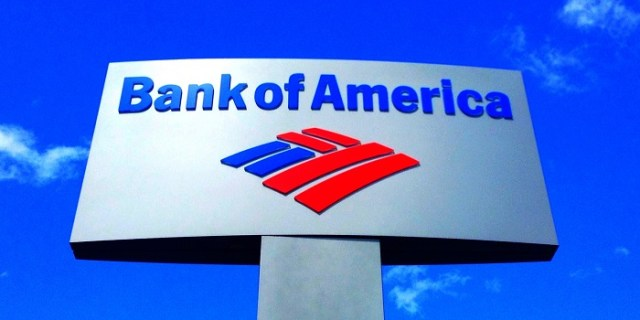 bank of america logo against clear blue sky
