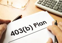 Document with sign 403(b) plan