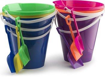 assorted 9 sand bucket