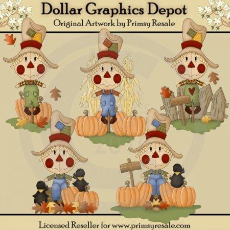 scarecrows - clip art 1.00