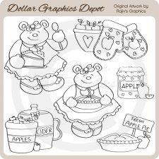 digital stamp clip art