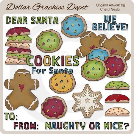 cookies santa 2 - clip art