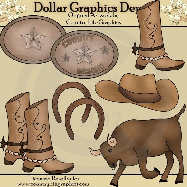 country western clip art dollar