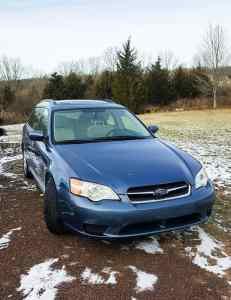 Blue 2007 Subaru Legacy