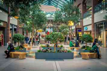 Courtyard of a mall