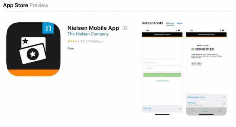 scarica l'app mobile nielsen e guadagna $ 50 all'anno se l'hai installata