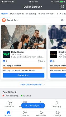 app di annunci di Facebook