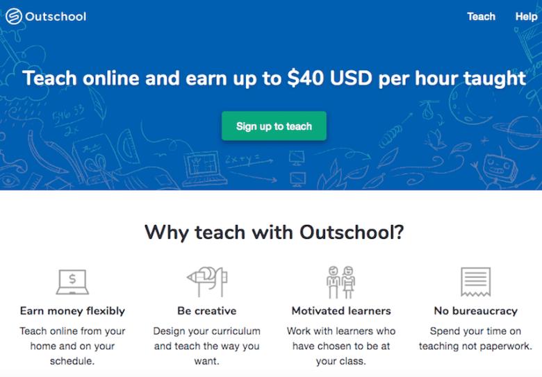 Insegnamento Outschool
