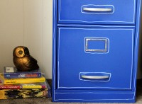 Paint a File Cabinet Blue: $5 Revamp  Dollar Store Crafts