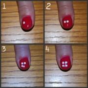simple nail design flower tutorial