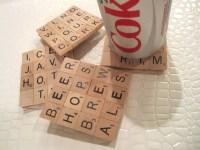 Make Scrabble Tile Coasters  Dollar Store Crafts