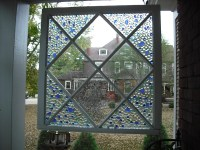 Make a Decorative Mosaic Window  Dollar Store Crafts