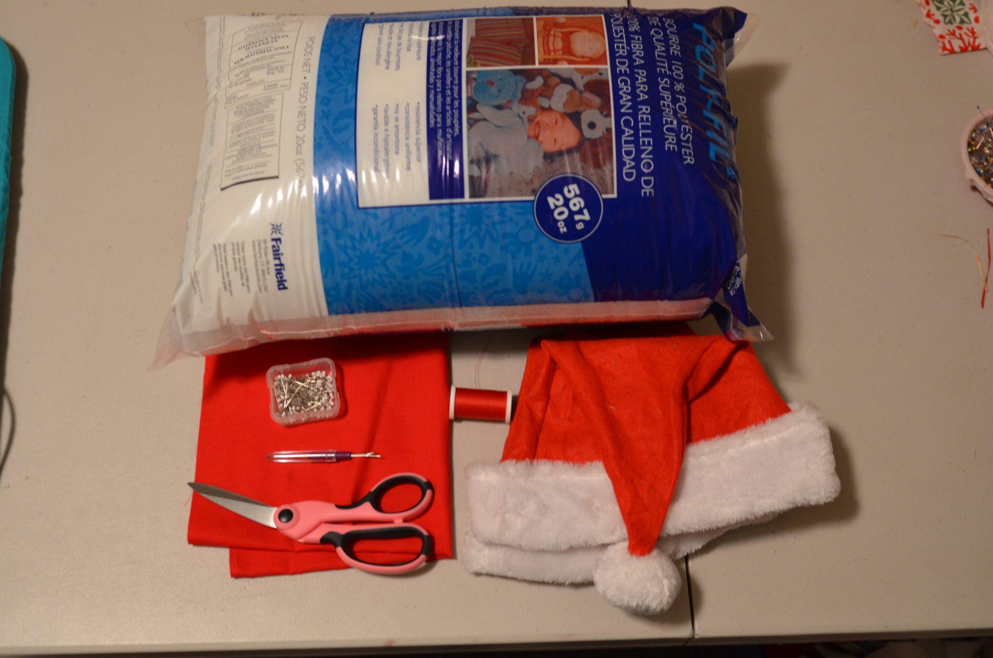 Tutorial Make a Santa Hat Accent Pillow  Dollar Store Crafts