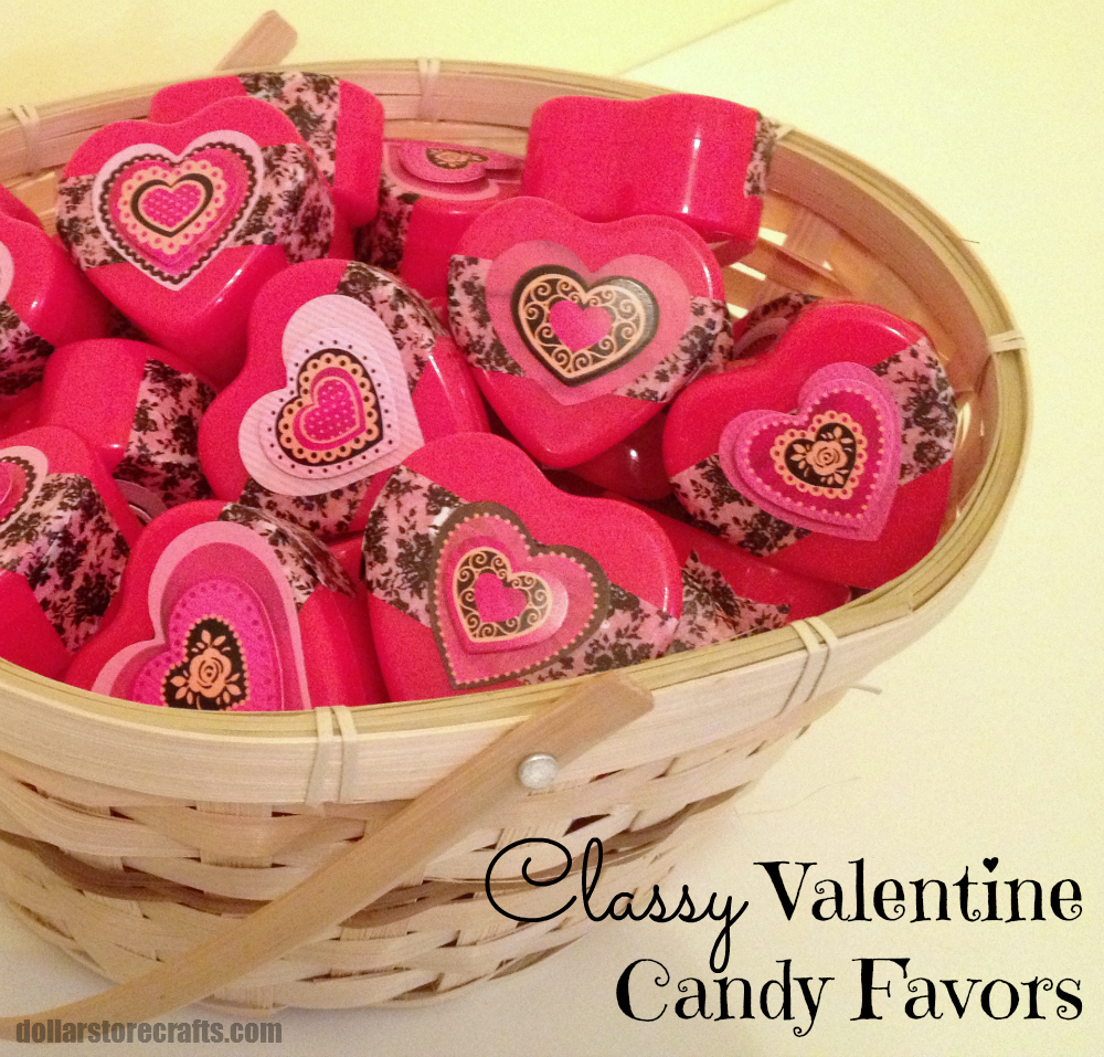 Tutorial Classy Valentine Candy Favors Dollar Store Crafts