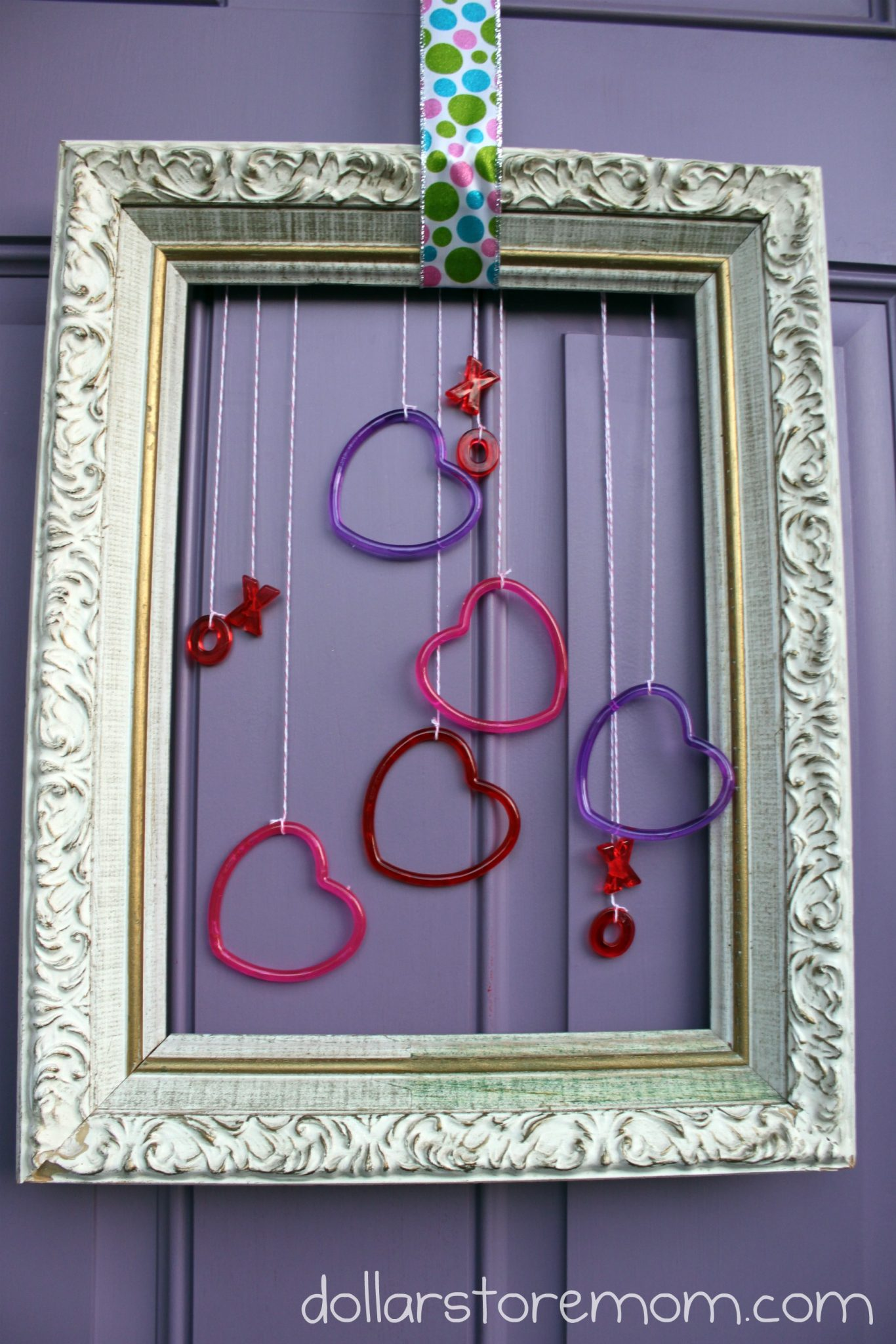 Quick Valentine Frame Door Decor Dollar Store Crafts