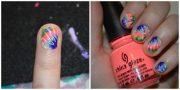 nail art tutorial tie dye finger