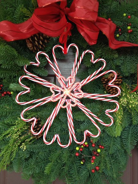Tutorial Candy Cane Heart Wreath Dollar Store Crafts
