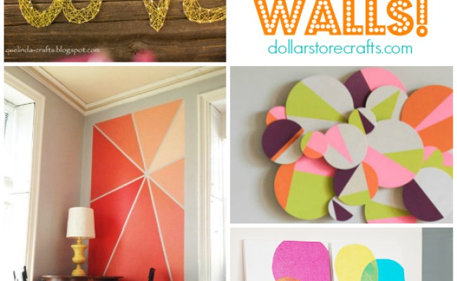 10 Diy Wall Art Ideas Dollar Store Crafts