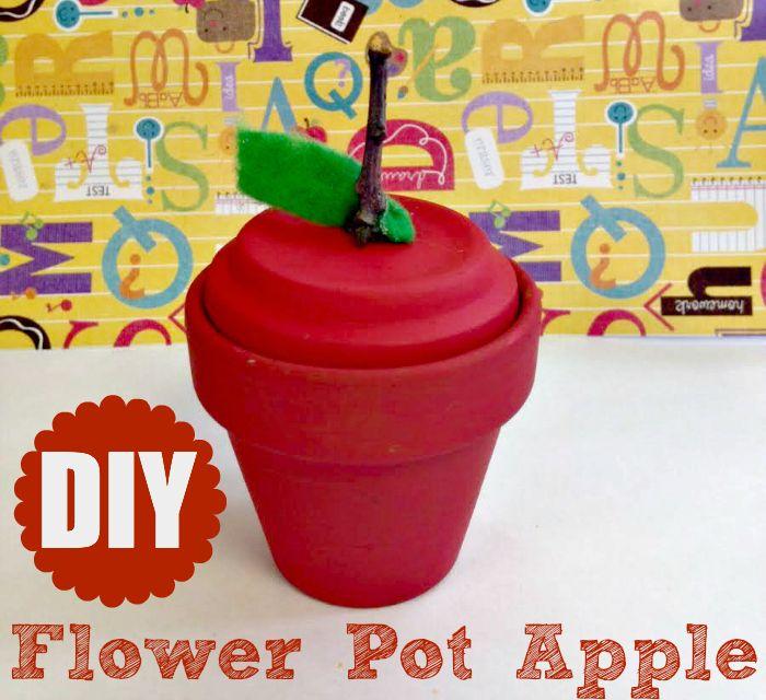 Make a Flower Pot Apple  Dollar Store Crafts