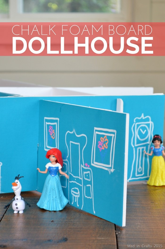 Make Chalk Foam Board Dollhouse  Dollar Store Crafts