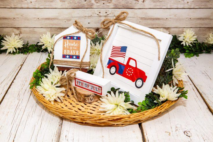 DIY 4th of July Patriotic Truck Home Decor