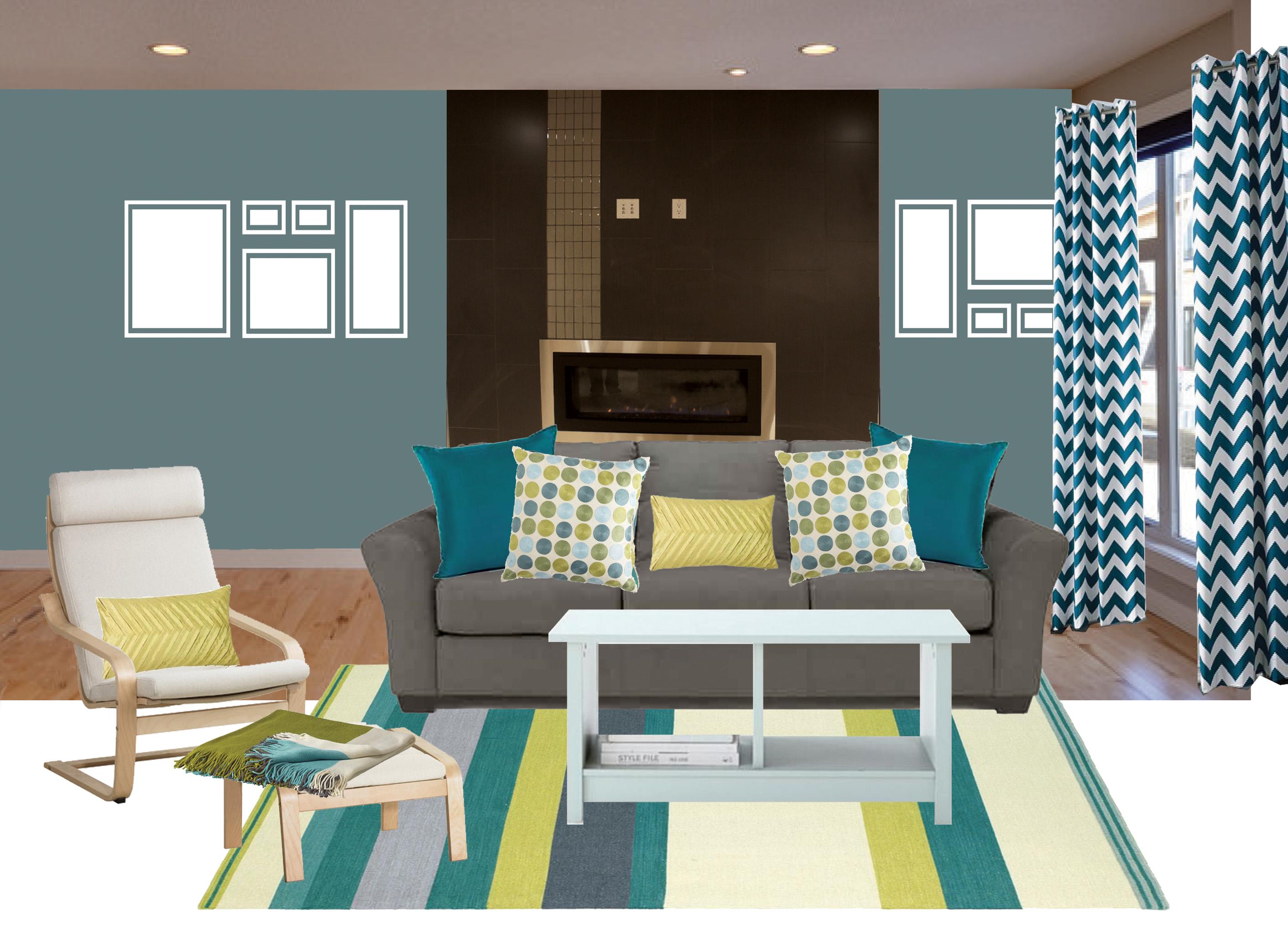 chevron living room curtains gardner white tables print