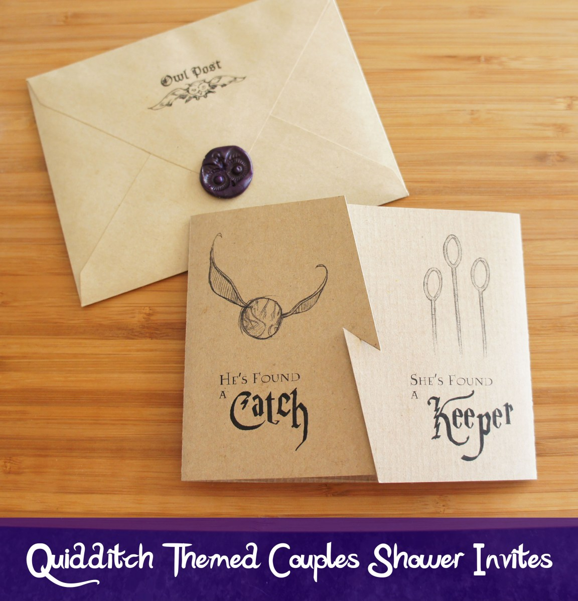 Quidditch Inspired Invites For A Harry Potter Themed