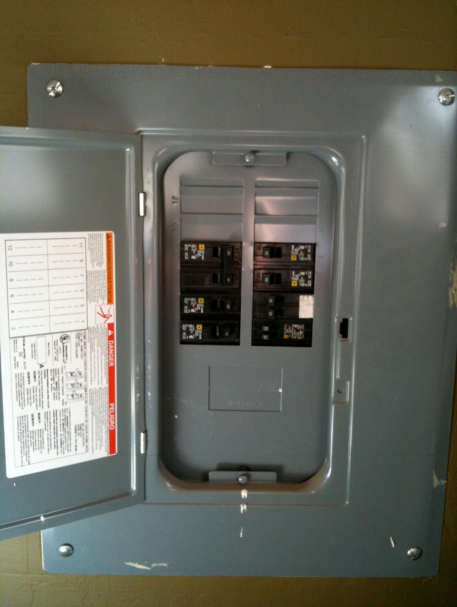 hight resolution of sub panel repairs