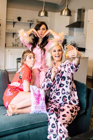 galentine's day slumber party