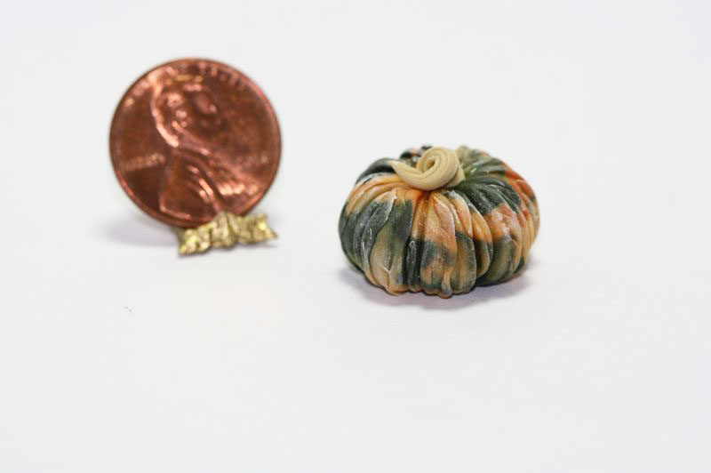 Fall Colored Pumpkin Gourd by Twin Heart  Dollhouses and More