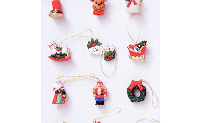 Dollhouse Miniature 1 12 Scale Christmas Resin Ornaments