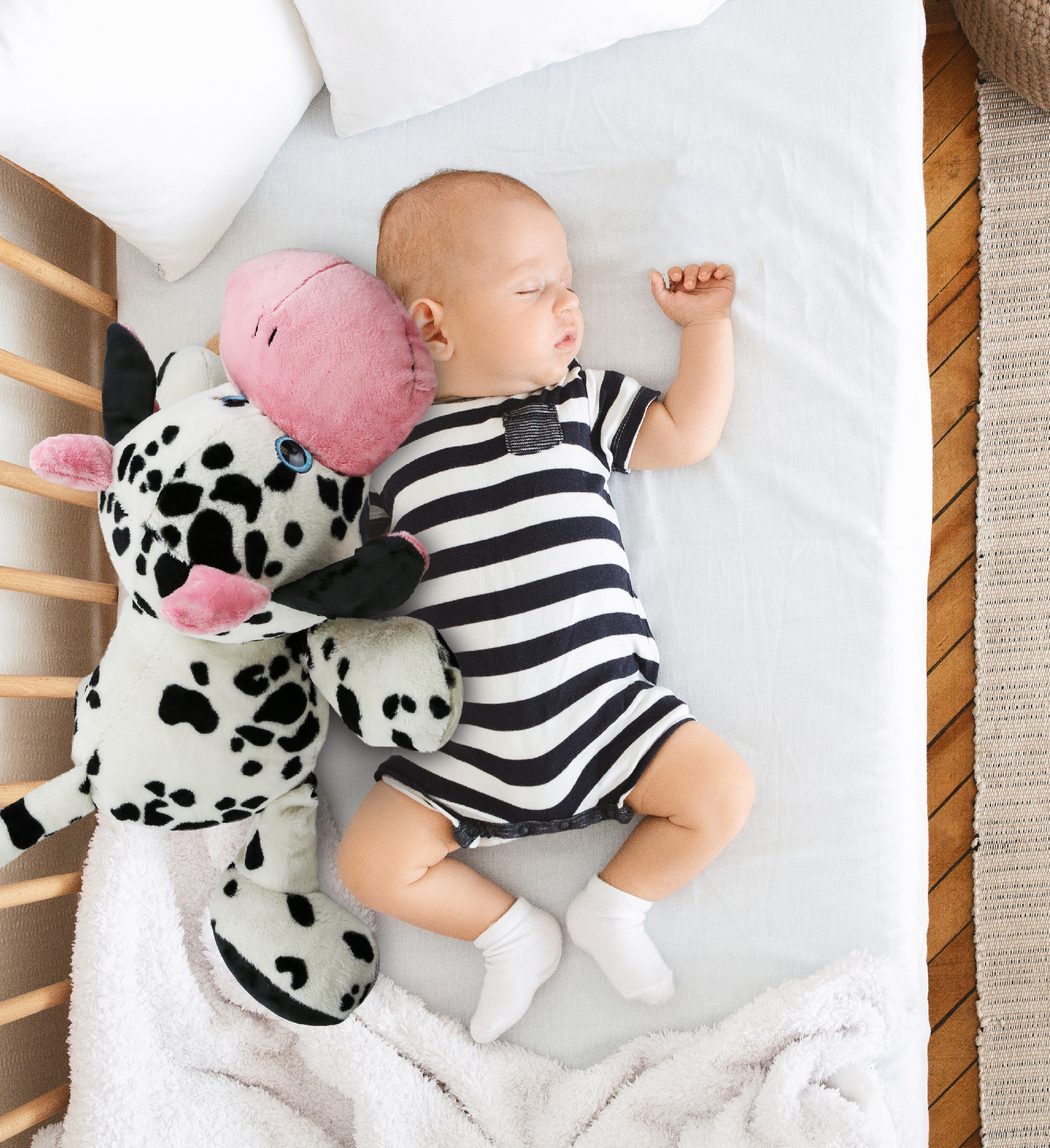 dollibu cow xl stuffed animal pillow 27 inch soft moo cow toy pet animal pillows for kids cute cozy nap buddy floor pillows for kids toddlers