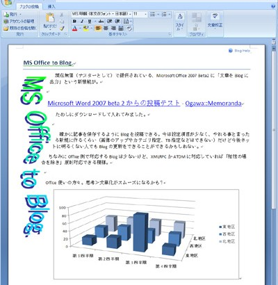 MS Office to Blog.