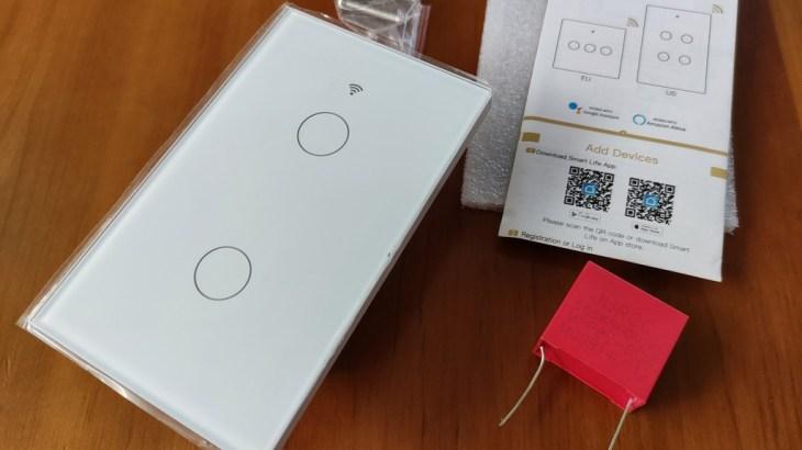 部屋の壁スイッチをポン付けでスマートスイッチ化できるMOES WiFi Smart Light Switch