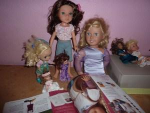 Piper, Katelyn, Alexandra looking at AG catalogue