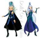 Mattel Winx Club Witch Icy front length full cape comparison