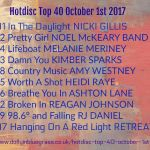 Hotdisc Top 40 October 1st 2017