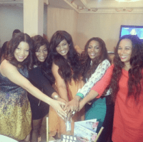 Omotola with some actresses