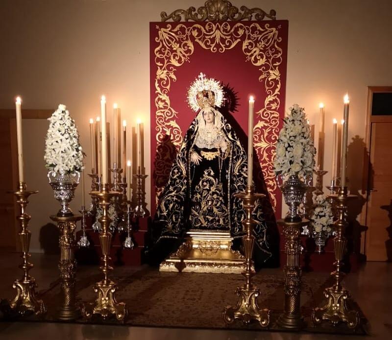 Virgen de los Dolores en su misa Estacional