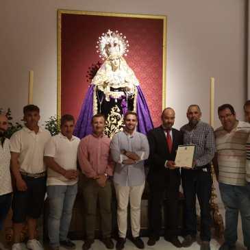 La Banda de Música «Nuestra Señora de la Soledad» de la Congregación de Mena, acompañará musicalmente a Ntra. Sra. de los Dolores.