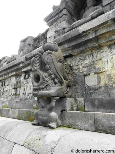 Gárgola de Borobudur (Java Central, Indonesia)